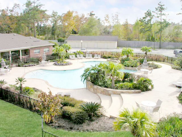 large outdoor pool apartment