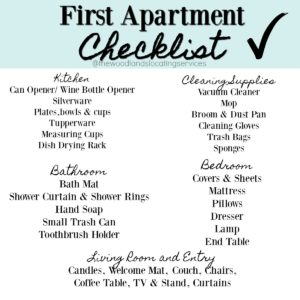 Everything You Need For Your Very 1st Apartment!